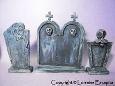 Nightmare Before Christmas Tombstones by DFLY Creations