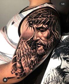 Left Arm Tattoos, Cool Chest Tattoos, Forearm Sleeve Tattoos, Best Sleeve Tattoos, Arm Tattoos For Guys, Heaven Tattoos, God Tattoos, Taurus Tattoos, Body Art Tattoos