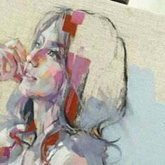 by izumi kogahara Figure Painting, Figure Drawing, Painting & Drawing, Watercolor Portraits, Watercolor Art, Abstract Painters, Portrait Art, Figurative Art, Painting Inspiration