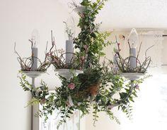 Fairytale Nursery Chandelier // Secret Garden by http://femmenouveau.etsy.com