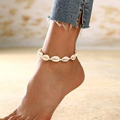 Details about  /2-Layer Boho Coral Anklet