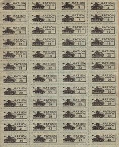 World War II Ration Book Three (Stamps)