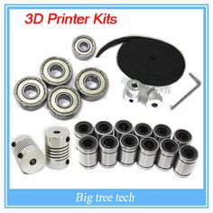 3d printer reprap prusa i3 movement kit GT2 belt pulley 608zz bearing  lm8uu 624zz bearing 3D printer #>=#>=#>=#>=#> Click on the pin to check out discount price, color, size, shipping, etc. Save and like it!