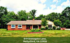 Equestrian Property for Sale in Central Virginia - 819 Stonegate Lane #CentralVirginiaHomes #819StonegateLn