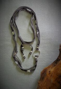 Versatile cotton necklace Long or double by EvisHandmadeJewels Handmade Jewelry, Jewels, Personalized Items, Cotton, Handmade Jewellery, Bijoux, Gem, Gems, Hand Print Ornament