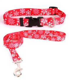 Look what I found on #zulily! Red Snowflakes Pet Collar & Lead #zulilyfinds