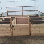 "Cedar Complete Raised Garden Bed Kit - 8' x 8' x 20""   Eartheasy.com"