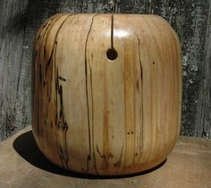 Maple Wood Yarn Bowl woodturning woodworking knitting skein yarn holder wool chrochet. $45.00, via Etsy.