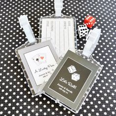 Las Vegas Wedding Favors... Maybe put the invitation in there?