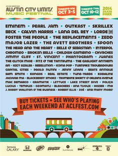 Here's a chance again to win 2 tickets to @aclfestival Oct. 10-12 #2014 on our website! Read the rules here & enter! titosrocks.com