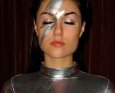 future, futuristic, Sasha Grey, future girl, futuristic girl, girl in silver, futuristic look, future fashion, retro-futuristic, make up by FuturisticNews.com