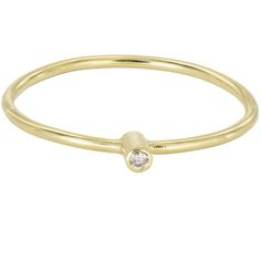 An elegant minimalistic stacking ring in gold, with a diamond. Wear it naturally, simply and happy. A diamond is forever but also for every day! The diamond sparkle is utterly unmistakable. Diamond Stacking Rings, Thing 1, Dainty Ring, 18k Gold, Sparkle, Engagement Rings, Gemstones, Elegant, Metal