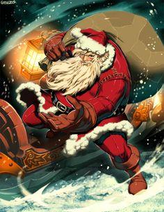 30 Creative Illustrations of the Christmas Man: Santa Claus