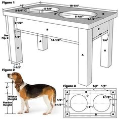 Saturday Morning Workshop: How To Build A Dog Bowl Stand Pet Bowl Ständer Tech Art Elevated Dog Bowls, Raised Dog Bowls, Raised Dog Feeder, Elevated Dog Feeder, Outdoor Dog Area, Dog Food Stands, Dog Food Bowl Stand, Dog Feeding Station, Dog Feeding Bowls