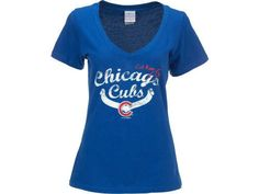 Chicago Cubs Women's Royal Blue Baby Jersey by 5th & Ocean  Sz L NWT #ChicagoCubs