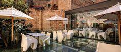 Terraza del restaurante Hotel Olivia Plaza, Barcelona. Un rincón de encanto irresistible!