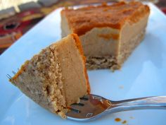 Paleo Thanksgiving Pumpkin Cheesecake recipe - I *do* have some paleo guests coming for Thanksgiving dinner this year!
