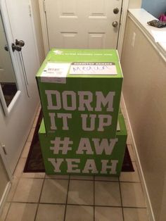 Everything for your dorm room, all in these 2 boxes! www.dormitup.com