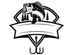 Bass Fishing Logo Angling Fish Hook Fresh Water Hunting Striped Tournament Co… - Famous Last Words Bass Fishing Tips, Fly Fishing, Fishing Basics, Fishing Boats, Fishing Guide, Fishing Lures, Saltwater Fishing, Fishing Chair, Fishing Signs