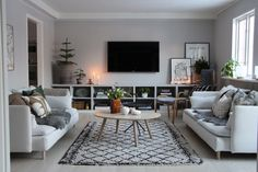 Modern Classic Interior, Tv Stand Decor, Ikea Tv, Home Decor Kitchen, Home And Living, Living Room Decor, Decoration, Furniture Design, Sweet Home