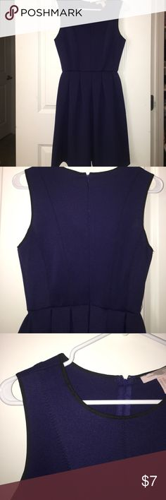 Forever 21 navy blue and black trimmed dress Never worn forever 21 dress size extra small, but runs pretty large. The fabric is pretty thick and smooth, super comfy and cute Forever 21 Dresses