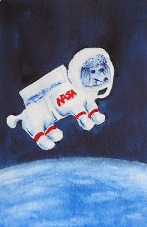 My sweet toy poodle in outer space!