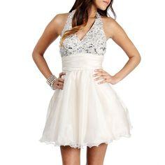 B. Darlin Gedala-Champagne Jewel Prom Dress ($150) ❤ liked on Polyvore