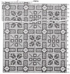 Toalhinha com motivos geométricos.  manela