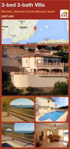 3-bed 3-bath Villa in Moraira, Alicante (Costa Blanca), Spain ►€567,000 #PropertyForSaleInSpain