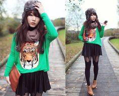 Wild cat (by Ivy Xu) http://lookbook.nu/look/4167586-wild-cat