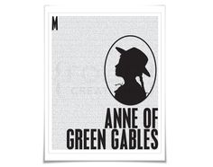 Anne of Green Gables Lucy Maud Montgomery Art by FolioCreations