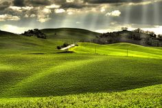 The hilly and fertile region of Val di Cecina in Tuscany, Italy, is considered one of the most beautiful parts of the country.