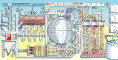Schéma d'usine de jouet