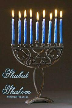 Shabat Shalom. Menorah.