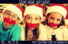 "hee. ""silent night"""