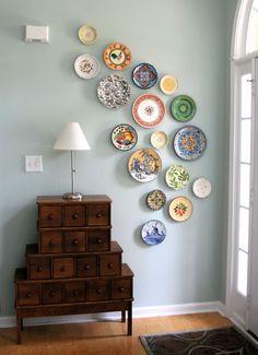 Decorative Plates | Оригинальный способ украсить стену декоративными тарелочками