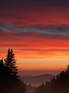 Sunset view from Magalloway Mountain, Pittsburg, New Hampshire