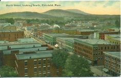 Massachusetts Pittsfield North Street Looking South 1910 Postcard | eBay