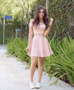 A-Line Dress, Light Pink Dresses,Off Shoulder Homecoming Dresses, Satin Short Dresses from PeachGirlDress,homecoming - Moda Hoco Dresses, Pretty Dresses, Casual Dresses, Fashion Dresses, Girls Dresses, Pink Dress Casual, Elegant Dresses, Light Pink Dresses, Light Pink Homecoming Dresses