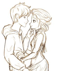 Smile | Jelsa | Jack Frost (Rise of the Guardians) & Elsa (Frozen) | Disney | Fan Art