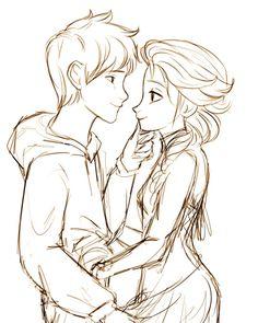 Smile | Jelsa | Jack Frost (Rise of the Guardians) & Elsa (Frozen) | Disney | Fan Art