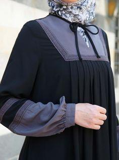 Best 12 Lace Contrast Abaya – Abayas – Women – Page 771804454874938961 Modern Hijab Fashion, Muslim Women Fashion, Abaya Fashion, Estilo Abaya, Moslem Fashion, Fashion Clothes, Fashion Outfits, Abaya Designs, Muslim Dress