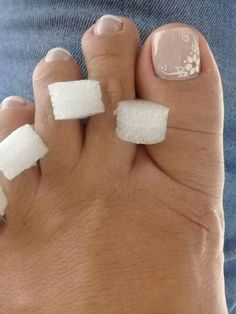 Uñas Pedicure Designs, Toe Nail Designs, Acrylic Nail Designs, Acrylic Nails, Prom Nails, My Nails, Pretty Toe Nails, French Pedicure, Toe Nail Art