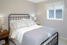 Spare bedroom in the Orion II showhome in King's Heights in Airdrie by Shane Homes. New Homes, House Design, Bedroom, Furniture, Home Decor, Decoration Home, Room Decor, Bed Room, Bedrooms