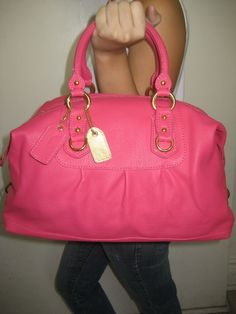 #Hot Pink Designer Purse Madison Style Purses #2dayslook # new style fashion #Pursesfashion www.2dayslook.com