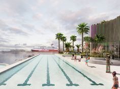 Port Melbourne Seaside Pool - WOWOWA