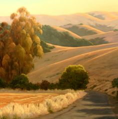 Backroads of Marin/Sonoma counties, Northern California landscape painting, original oil painting http://terrysauve.com
