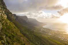 With just a 20 minute hike up the mountain you get sunset views of the city centre, Lion's Head, Camps Bay, and the 12 Apostles. Camps, Thing 1 Thing 2, Cape Town, South Africa, Centre, Lion, Hiking, Mountains, Sunset
