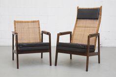 J.P.+Muntendam+Mid-Century+Rattan+Lounge+Chair
