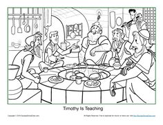 Timothy Is Teaching Coloring Page